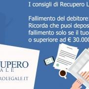 Fallimento del debitore: quando puoi depositare istanza