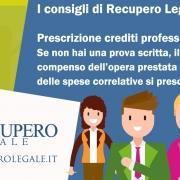 Prescrizione crediti professionali