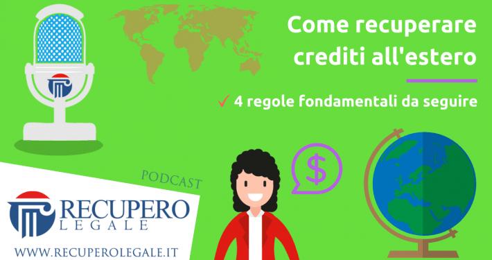 Come recuperare crediti all'estero