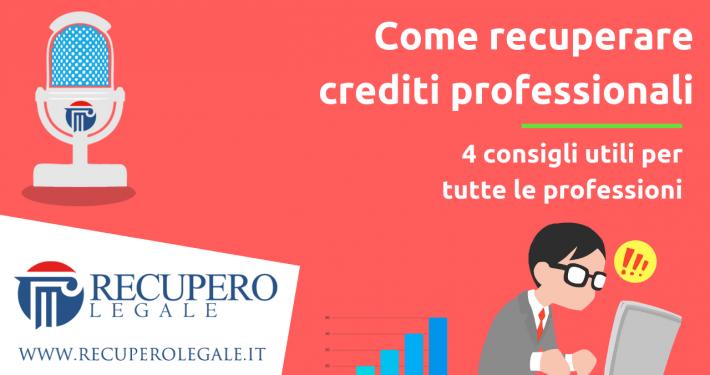 Come recuperare crediti professionali