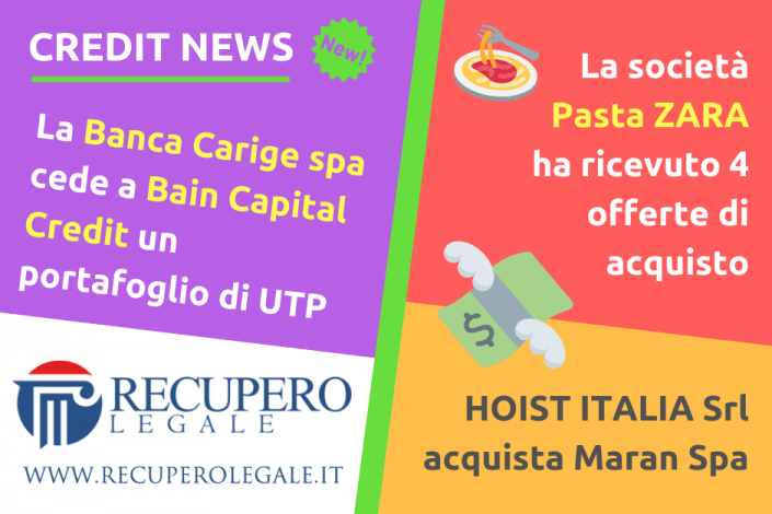 Carige, Pasta Zara, Hoist Italia