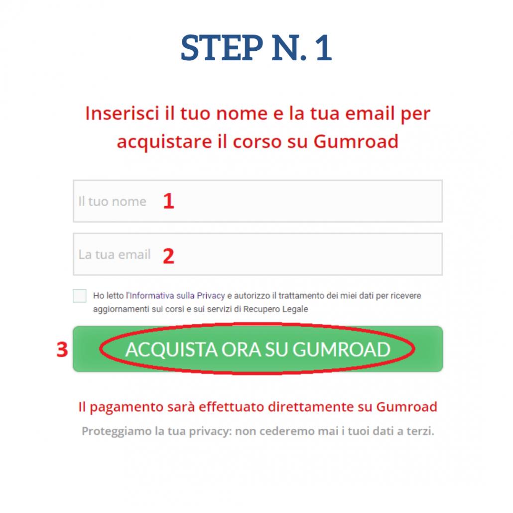 GUMROAD Step 1
