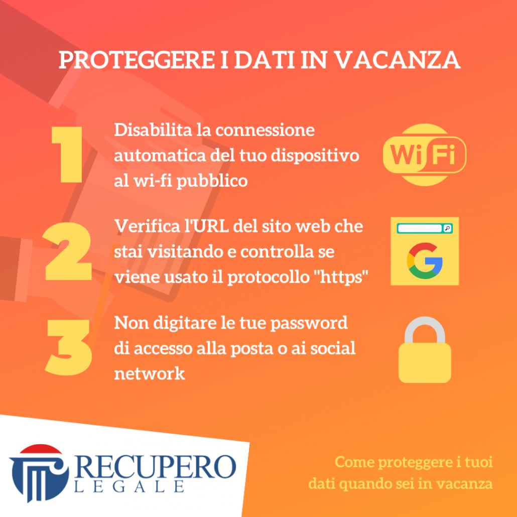 Proteggere i dati in vacanza