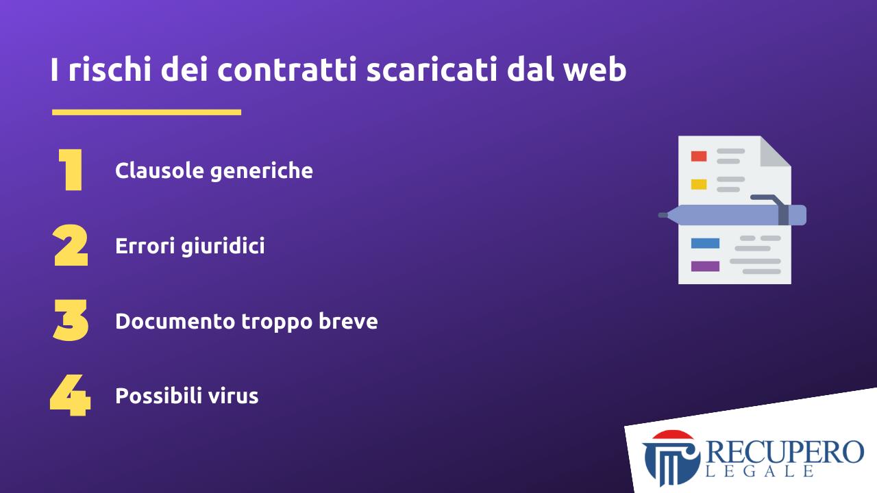 Contratto di servizio - I rischi dei contratti scaricati dal web