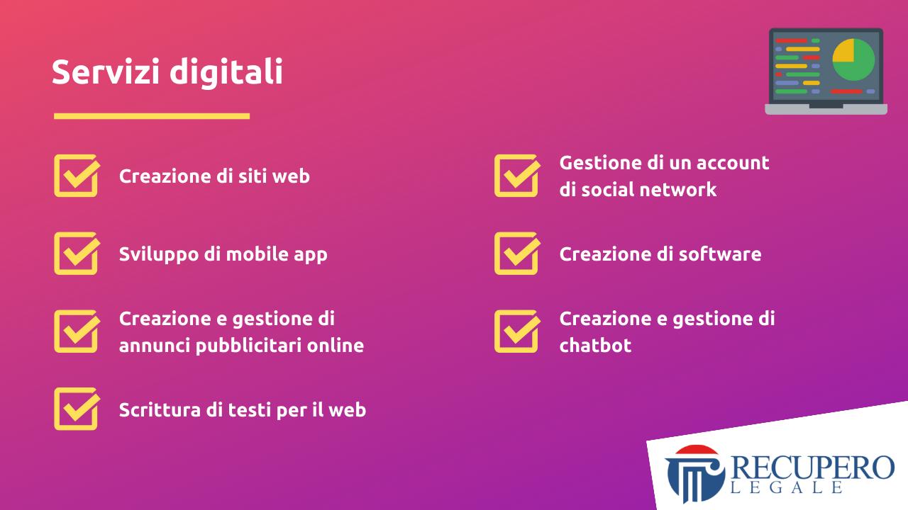 Contratto di servizio - servizi digitali