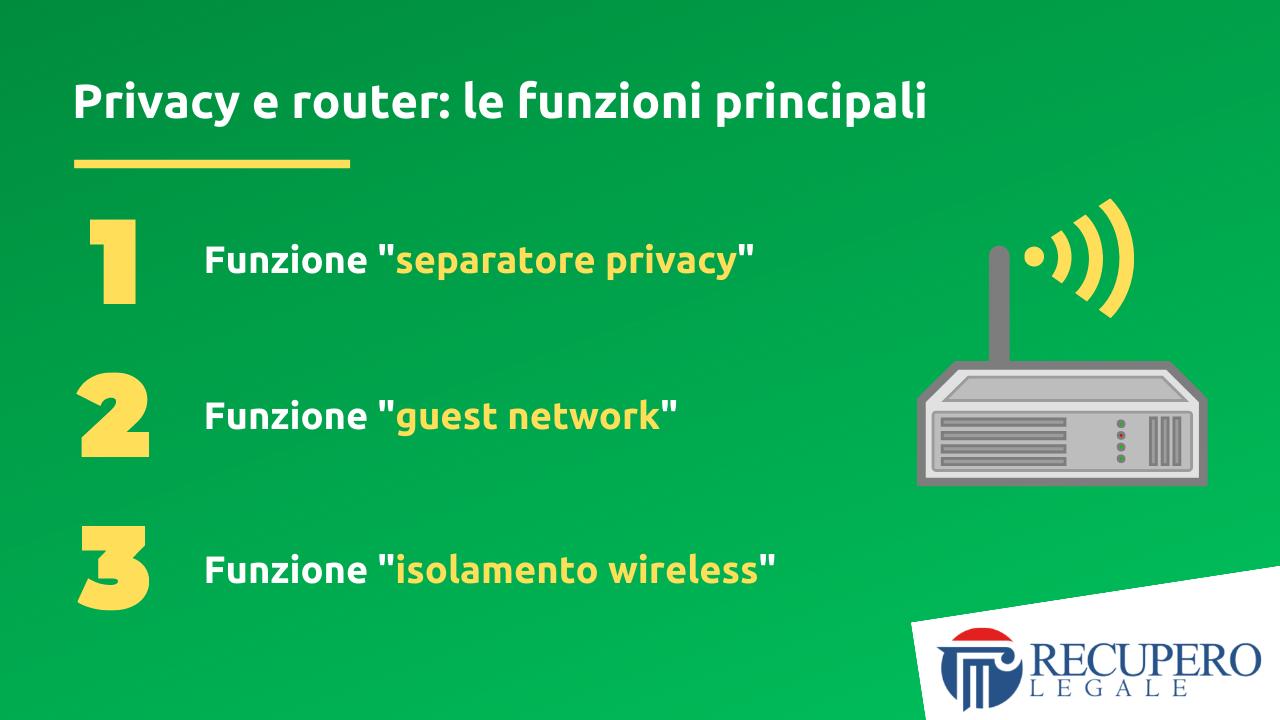 Privacy e router - le funzioni principali